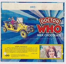 Giga-rare: Nestle Dr Doctor Who chocolate wrapper, 1975.  GC!