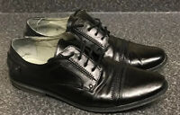 CENTURY UK 9 / 43 Black Leather Lace Up Shoes Wedding Formal Suit Oxford Church