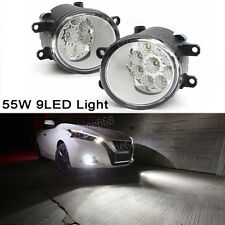 Pair 9 LED 55W Front Fog Light Driving Lamp For Toyota Corolla Camry Yaris Lexus