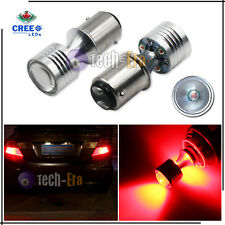2x 20W Red 1157 7528 4 CREE LED Projector LED Bulbs for Tail, Brake Stop Lights