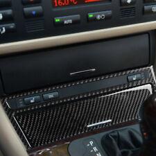 For BMW E46 4 DOOR Carbon Fiber Center Console Dash Storage Ashtray Trim Sticker