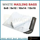 White Postage Mailing Bags Strong Cheap Recycled Plastic Poly Self Seal ALL SIZE