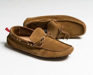 Kiton Napoli NIB Brown Driving Moccasins Casual Shoes 6 US