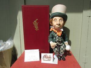 R John Wright  Doll Alice in Wonderland Mad Hatter Ltd Ed 119/500 COA BOX BEAUTY