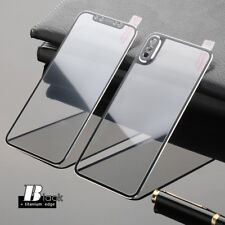 For iPhone X 3D Front and Back Screen Protector Titanium Tempered Glass Film