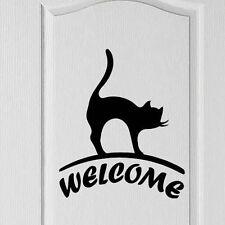 Bienvenue chat signe porte / hall Signe Vinyle Decal Sticker, shop, home, Amour, Décoration