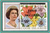 COOK IS 1970 FLOWERS w/O-PRINT fluor.PAPER SC#290 MNH