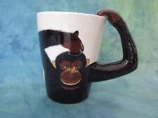 World Market Monkey Coffee Mug Cup Chimp Gorilla Arm Handle Animal Lover 13 oz.