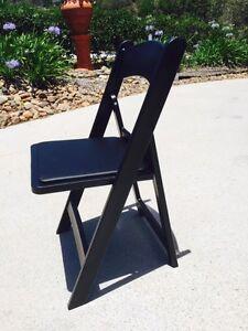 Black Resin Folding Americana Chairs