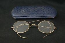 Vintage 1920's 1930's Brand A ? Cable Wrap Temple Eyeglasses & Hard Case