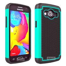 Teal Heavy Duty Hybrid Hard Case For Samsung Galaxy Core LTE SM-G386W
