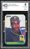1987 Donruss #361 Barry Bonds Rookie Card BGS BCCG 9 Near Mint+