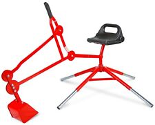 Sand Digger Toy Exavator with Telescoping Legs (red)