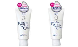 SHISEIDO Senka Perfect Whip White Clay 120g Facial Cleanser Foam NEW 2 Packs