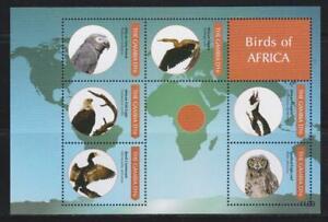 GAMBIA 2011 BIRD STAMPS BIRDS OF AFRICA SS MNH - BIRDL592