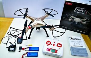 Syma FPV RC Drone with 720P Camera FPV WiFi X8HW 2.4GHz 6-Axis Gyro 2 Batteries