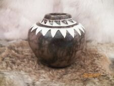 Navajo Horse Hair-Etched Pottery SMALL VASE NM Signed on Bottom