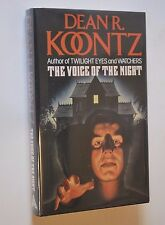 The Voice of the Night by Dean R. Koontz early U.K. Ed 1989 Signed Inscribed