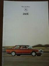Mercedes-Benz W123 280E Saloon 1980 UK market sales brochure