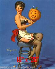 "Halloween~Elvgren~Poster~Pinup Print 16"" x 20"""