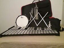 Vic Firth Percussion Set Xylophone Bells Drum Practice Pad Stick Bag Stand Music