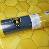 Lamborghini Hexagon Feature Yellow Gold Metallic textured Wallpaper 3D Geometric