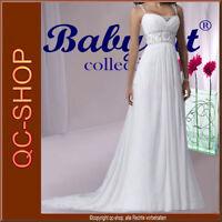 Chiffon Brautkleid Hochzeitskleid Kleid Braut Babycat collection weiß BX160 36