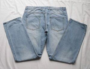 Mens NEXT Light Blue Loose Fit Denim Jeans W36 L33