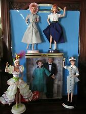Lot Of 6 I Love Lucy Barbie Dolls: W/ Coas, Stands, No Boxes, Except The Giftset
