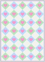 Argyle Heart Graph Chart Afghan Pattern crochet knit