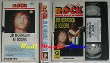 VHS JIM MORRISON E I DOORS GRANDE ROCK DeAGOSTINI 1991 GRV 9 no cd mc dvd (VM8)