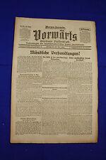 VORWÄRTS (23. Mai 1919): Mündliche Verhandlungen?