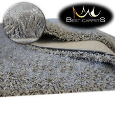 FLUFFY CHEAP SOFT CARPETS SHAGGY 'NARIN GREY' HIGH QUALITY nice in touch