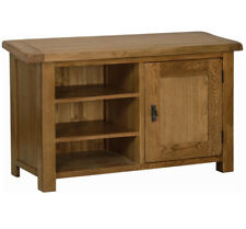 """100% original Rustic Solid Oak Wooden TV Cabinet/Stand Media DVD Units Up To 48"""""""
