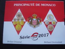 Monaco 2017 coin set  1 cents 2 euro 3,88 euro
