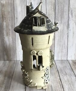 Vintage 1977 Haverfordwest Studio Art Pottery Whimsical Tower Pot With Lid VGC