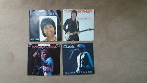 """Cliff Richard - 4 x 7"""" Singles - Daddy's Home, Only Way Out, Wired Sound, Carrie"""