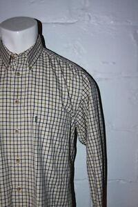 EUC Barbour Comfort Fit Plaid Button Front Long Sleeve Casual Shirt Sz M Medium