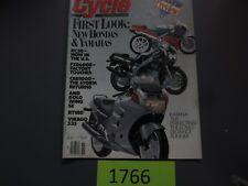 Cycle Magazine November 1989- Kawasaki KLR250, Ducati 906 Paso, Suzuki Katana