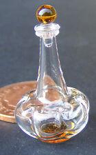 Decantador de cristal Escala 1:12 con una base Amarillo Casa De Muñecas Beber Accesorio GDC