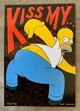 THE SIMPSONS: Homer Simpson 'Kiss my...' postcard – 1998 – BRAND NEW!