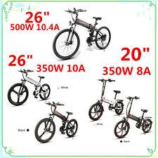 """Samebike 20"""" 26"""" Folding Electric Bicycle City E-Bike 250W/350W/500W 7/21Speeds"""