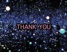 Thank you card -Yayoi Kusama Infinity Mirrored Room #1 -Museum art -Blank inside