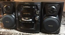 Panasonic SA-AK100 Dual Cassette Deck AM/FM Tuner & 5 CD Stereo Tested & Working