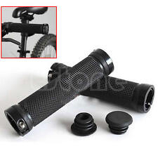 1 Pair Black Bike Handlebar Cycling Lock on Bicycle Handle Grips Road MTB BMX