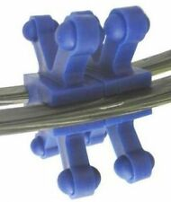"BowJax Revelation Split Limb Dampener, no screws, fits 11/16"", Blue, 4 Pack"