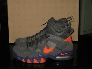 NIKE AIR MAX 2 STRONG ATHLETIC SHOES -- GREY, ORANGE, PURPLE -- SIZE 9 -- NIB!!!