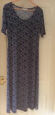 GRAY & Osbourne Navy Butterfly Long Dress. Size 12 NEW