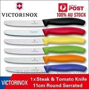 Genuine 1 X Victorinox Swiss 11CM Serrated Steak ,Tomato,Sausage Knife,Knives