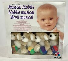 Vintage Dolly Musical Mobile BABY BEARS WITH BLOCKS Mounts on Crib NEW in Box